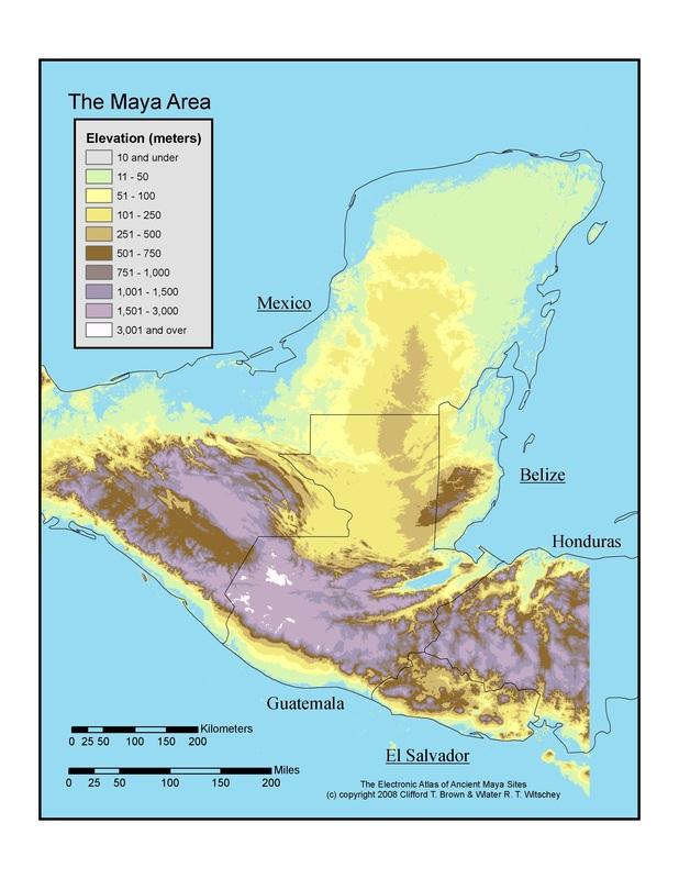 Maps - The Maya Empire